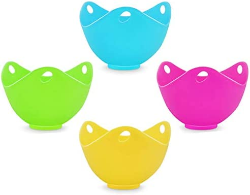 Ortarco Egg Poacher Ortarco Silicone Egg Poachers Poached Nonstick Egg Cooker for Stovetop or product image