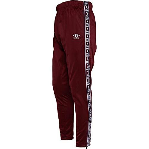 Umbro Herren Jogginghose Active Style Taped Tricot Pants Sweat Pants Track Pants Gr. 27-32, burgunderfarben