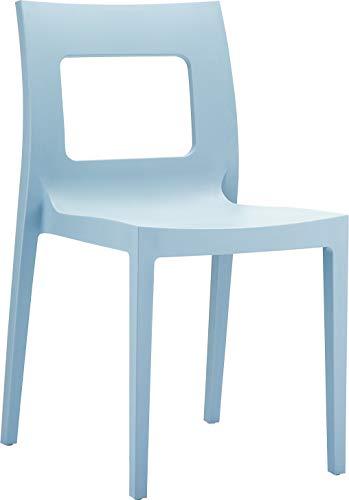 resol grupo Aritza Set de 2 sillas de diseño para Interior, Exterior, jardín, Plateado, 49 x 42 x 82 cm, 2