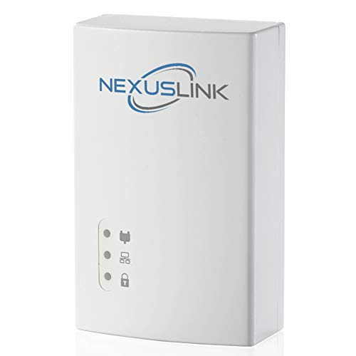 NexusLink G.hn Powerline Ethernet Adapter | 1200Mbps | Gigabit Port, Power Saving, Home Network Expander with Stable Ethernet Connection for Online Gaming, Video Streaming | Single Device (GPL-1200)