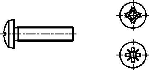 Dresselhaus lentille Vis 4,8 avec croix fente H, M 5 x 60 mm, galvanisé, 200 Pièces