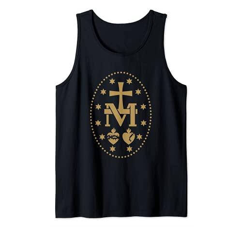 Medalla Milagrosa de la Virgen María Santo Católico Camiseta sin Mangas