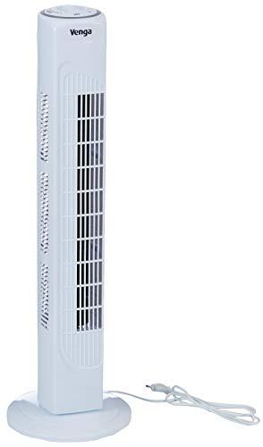 Venga! VG VT 3001 - Ventilador de torre oscilante de 3 velocidades, 80 cm, 45 W (blanco)