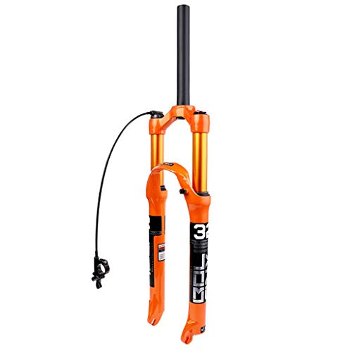 WHQ Mountain Bike Suspension Forks 26 Inch, Magnesium Alloy Straight Tube XC DH Competition Bikes Cycling 1-1/8' Travel 120mm (Color : B, Size : 26 inch)