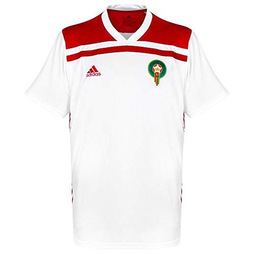 adidas Selección Marruecos Segunda Equipación 2019-2020, Camiseta, White-Power Red