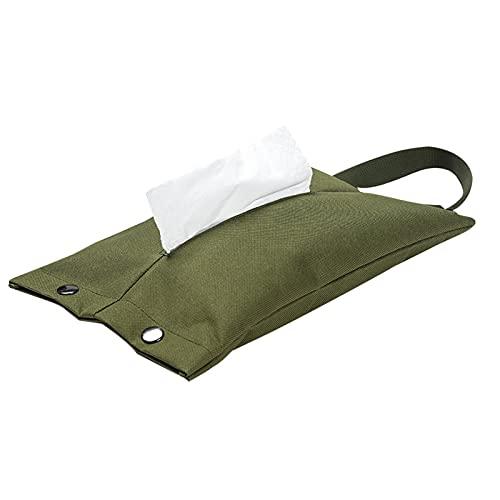Borsa Porta Fazzoletti da Esterno Set di Carta da Pompaggio da Campeggio per Tenda da Campeggio, Escursionismo da Campeggio All'aperto, Verde Militare, 31x19 Cm