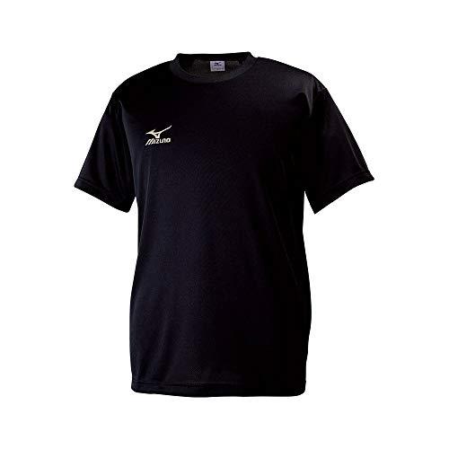 [ミズノ]  トレーニングウェア 半袖Tシャツ ナビドライ Uネック 吸汗速乾 メンズ 32JA6150 90 ブラック×ゴ...