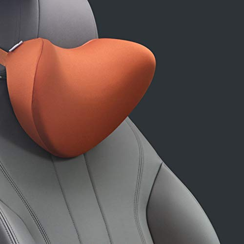 Yuansr Reposacabezas de cazadoras de automóviles, reposacabezas del coche de espuma de memoria de espacio, almohada cómoda del respaldo del asiento del automóvil, se utiliza para aliviar el dolor de c