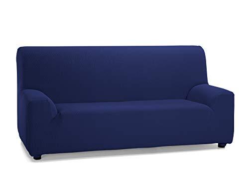 Martina Home Tunez, Copridivano elastico, Tela (50% poliestere, 45% cotone, 5% elastan), Blu Mare, 4 Posti (240-270 cm larghezza)