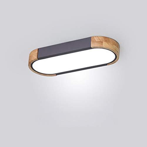 Regulable Alargado Plafon LED de Techo Superficie Cocina Madera+Metal Lampara de Techo...