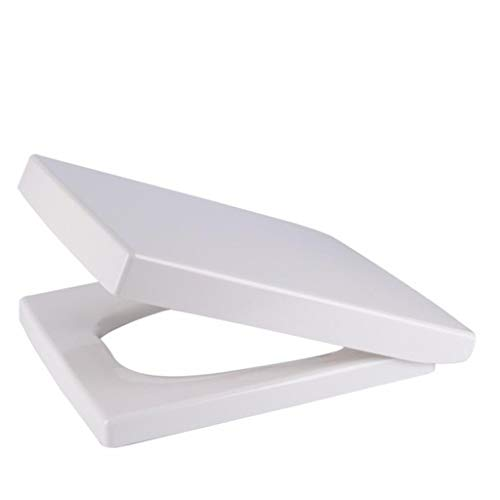 MGMDIAN Weiß Deluxe Leiter Release Soft Closed Toilettensitz |Square Edge |Weißer WC-Deckel von Top Repair