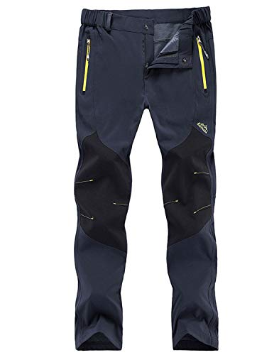 Freiesoldaten Uomo All'aperto Pantaloni Arrampicata Cargo Softshell Leggero Traspirante Pantaloni,Magro Blu,EU L