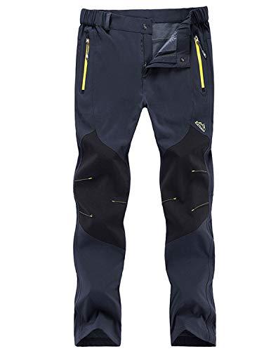 Freiesoldaten Men's Outdoor Cargo Pants Windproof Waterproof Softshell Trousers, Thin Blue, 3XL: waist 35.4 inch-37.4 inch