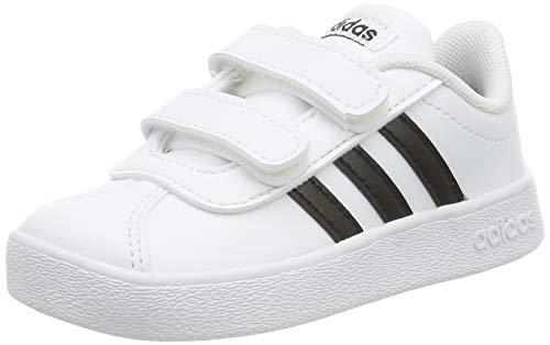 adidas VL Court 2.0 Cmf I, Scarpe da Ginnastica Basse Unisex-Bimbi 0-24, Bianco Ftwwht Cblack Ftwwht 000, 25 EU