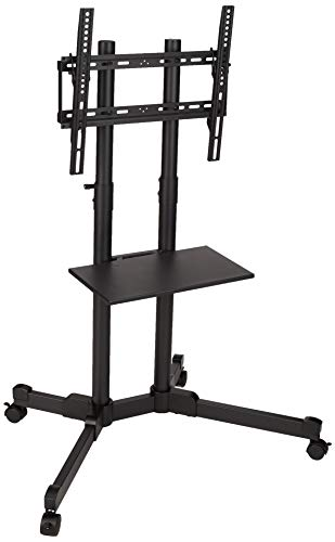 AmazonBasics TC40 TV Trolley for 32-70' TVs with Swivel feature, Black