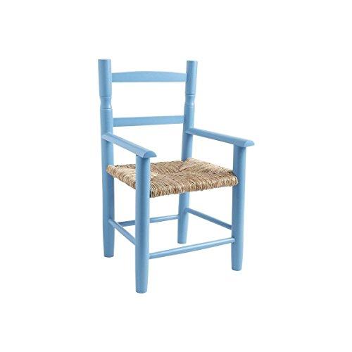 Chaise enfant en bois bleu ciel