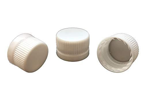 MCA PP28 PP 28 Tappi con anello di sicurezza di qualità, tappi a vite a mano, adatti per tutte le comuni bottiglie di vetro e PET con apertura da 28 mm, 10 pezzi, Plastica, 25 pezzi