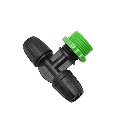 Extensor de conector de reparación de manguera, manguera de 3/8' a 1/2' 3/4' macho rosca colector de tres vías con tuerca de bloqueo 8/11 manguera de riego de 2 vías Conector 40 piezas (color: B)
