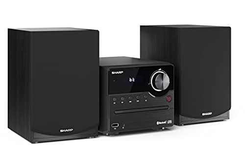 SHARP XL-B512 (BK) Stereo-Soundsystem (45 Watt, Radio mit FM-Tuner, Bluetooth), schwarz