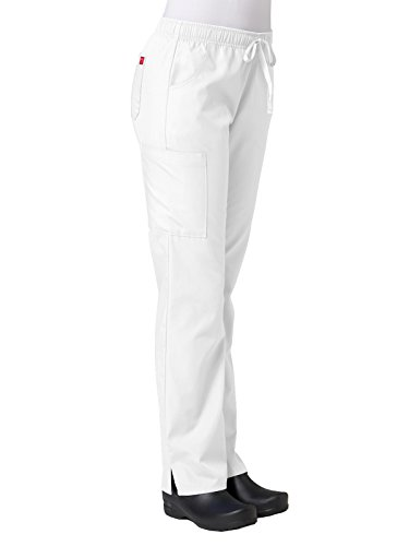 Maevn Full Elastic Cargo Pant' Scrub Bottoms White Petite 3XL