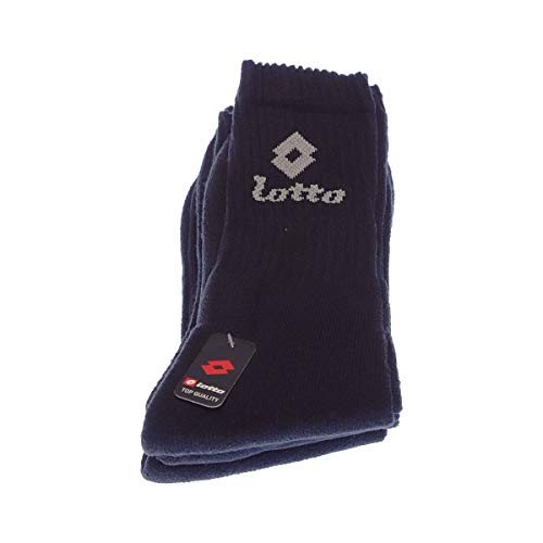 Socke über das Kalb - 3 pack - frotteesohle - Multisport - Epaisse - Coton - Noir - 43/46