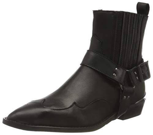 Selected SLFABIGAIL Cowboy Boot B, Bottines Femme, Noir, 38 EU