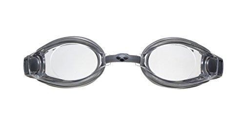 arena Unisex Training Freizeit Schwimmbrille Zoom X-Fit (UV-Schutz, Anti-Fog Beschichtung, Harte Gläser), Silver-Clear-Silver (11), One Size