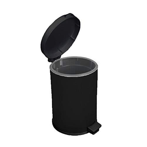 Lixeira Preta Com Pedal Recipiente Plástico 10,5 Lts - Viel