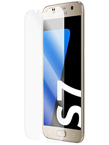 [2 Stück] Entspiegelte 3D Schutzfolien kompatibel mit Samsung Galaxy S7 - [Made in Germany - TÜV Nord] - Displayschutz-Folie - Hüllenfreundlich – Matt – kein Glas sondern Panzer-Folie TPU