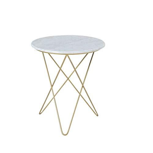 CSQ Accueil Canapé Table, Art Creative Fer Marbre Table basse Bureau Table réception Café négociation thé Table durable (Color : B, Size : 48 * 55CM)
