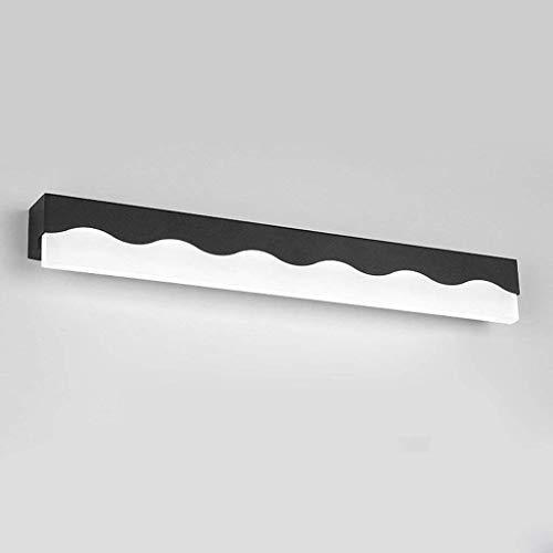 Espejos Acrílicos Espejos Lámparas Onduladas Iluminación, el Frente, la Lámpara de Moda Creativa Salón de Pared Las Habitaciones Baños Baños Baños Luces Lámparas Linternas, C-L, Negro-blanco Light-