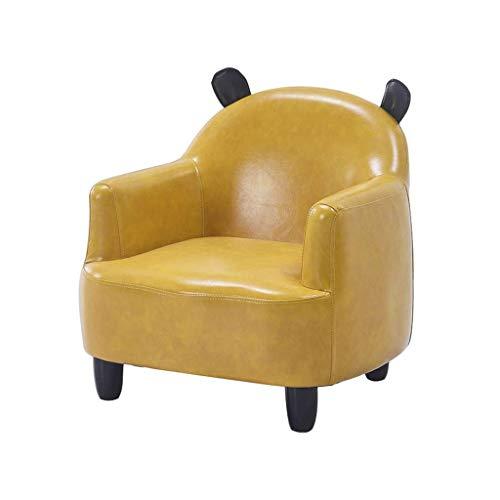 GZQDX Kinder Sofa, Kinder PU-Leder-Sessel, gepolsterte Rückenlehne, Ergonomischer Modernes Sofa for Kleinkind, Leicht-Sofa-Stuhl (Color : Yellow)