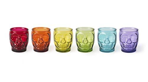 Excelsa Calavera - Juego de 6 vasos de cristal