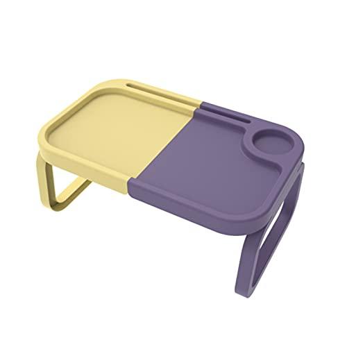 ZRXRY Mesa de Picnic Plegable de Colores Mezclados, Elegante Mesa de Playa Liviana, Mesa de refrigerios portátil, Mini mesas de Playa duraderas para Acampar al Aire Libre, Viajes al jardín,Púrpura