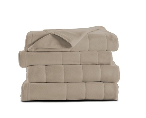 Sunbeam Heated Blanket | Microplush, 10 Heat Settings, Mushroom, King - BSM9KKS-R772-16A00