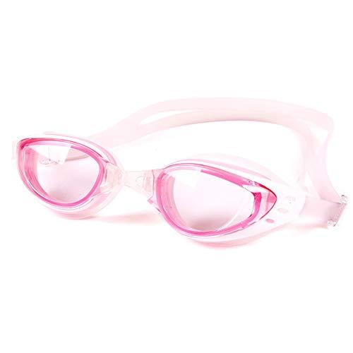 MDYHJDHYQ Goggles undichten Antibeschlag-Schwimmbrillen mit UV400-Schutzgläsern for Männer, Frauen und Jugendliche (Color : Rosa, Size : Kostenlos)