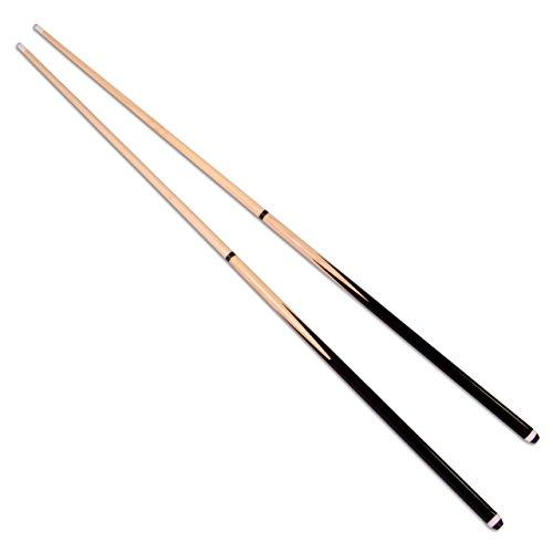 Nexos 2er Set Queues für Billard Snooker Pool aus Holz je 2 teilig ca. 146cm (57 Zoll) mit Gummipuffer und Klebeleder Ø 12mm