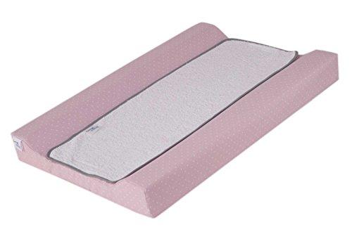 Funny Baby 623663 - Cambiador plastificado 53 x 80 cm, diseño motitas y nube, color rosa