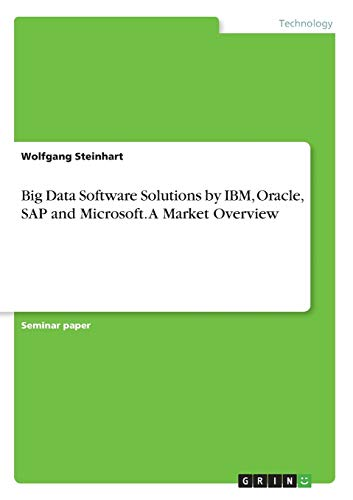 Big Data Software Solutions by IBM, Oracle, SAP and Microsoft. A Market Overview