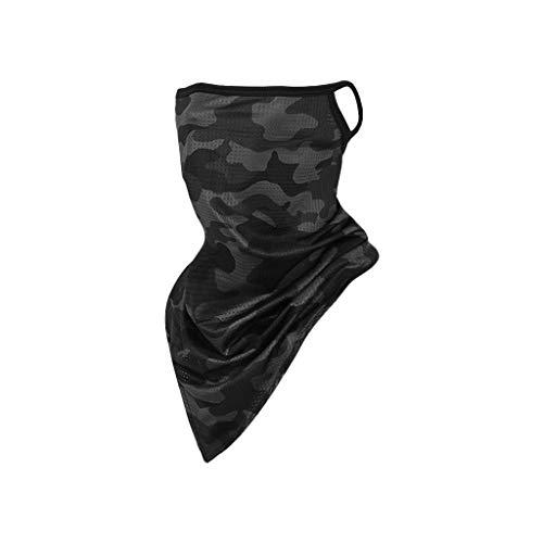 TOPEREUR Unisex Winddichte Gesichtsmaske Halstuch, Multifunktionaler Schlauchschal, Atmungsaktiv Schnelltrocknend Outdoor Sport Maske Joggen Wandern Fahrrad Motorrad Halsschlauch Face Shield