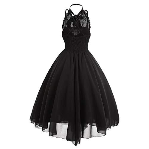 NHNKB Vestido gótico para mujer, corsé años 50, vestido de cóctel, Halloween, carnaval, disfraz, vestido de fiesta, vestido de graduación, vestido de fiesta