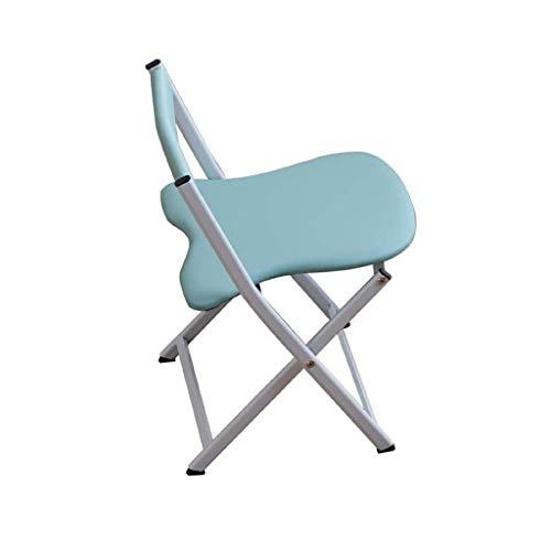 KELITINAus Silla plegable plegable de metal azul acolchado camping oficina moderno respaldo escritorio silla