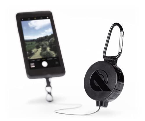 REELOQ Smartphone Sturz- und Diebstahl-Sicherung + Rucksack-Handytasche, inkl. GoPro Rucksack Montage, patentierter Seilzug-Mechanismus, Outdoor Zubehör