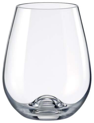 Rona Slovakia Drinkmaster Kristall-Weingläser, bleifrei, für Rotwein, ohne Stiel, 4Stück