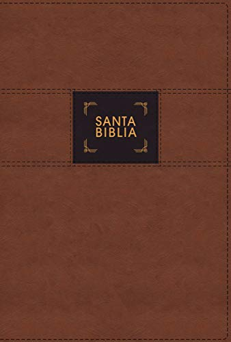 Santa Biblia/ Holy Bible: Nueva Biblia De Las Américas, Estudio Gracia Y Verdad, Leathesoft, Café, Interior a Dos Coloresの詳細を見る