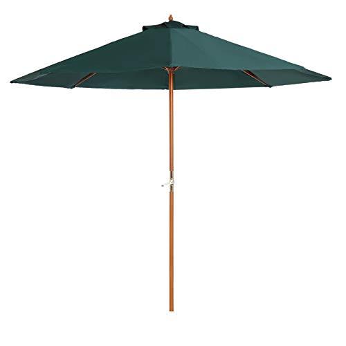 ombrellone da giardino verde Outsunny Ombrellone da Giardino in Legno di pioppo