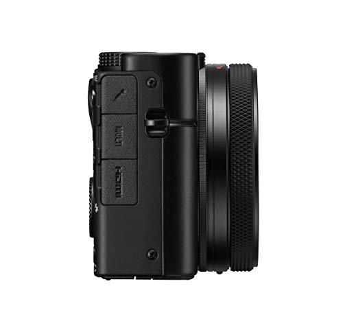 Sony RX100 VII | Premium Bridge-Kamera (1,0-Typ-Sensor, 24-200 mm F2.8-4.5 Zeiss-Objektiv, Autofokus zur Augenverfolgung für Mensch und Tier, 4K-Filmaufnahmen und neigbares Display)