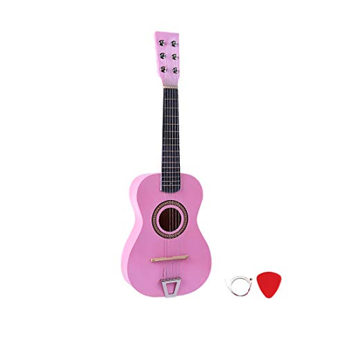 RuiyiF Kids Guitar for Girls Boys 6 Strings, 23 Inch Toddler Toy Acoustic Guitars for Kids Age 3-5 Years Educational Toy (Pink)