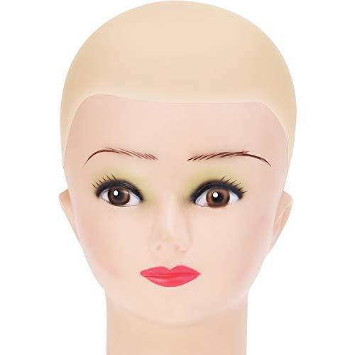 Latex Glatze Kappe für Erwachsene Makeup Glatze Perücke Kappe Beige Kostüm Zubehör, Kleine Größe
