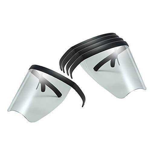 N/A/a 5PCS Máscara de Protección Facial Lente Transparente Gafas Visor